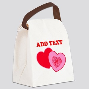 Valentine's Day Hearts Canvas Lunch Bag