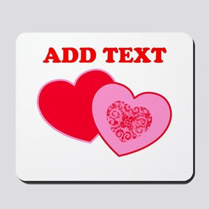 Valentine's Day Hearts Mousepad