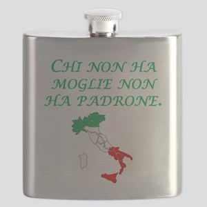 Italian Proverb Without A Wife Flask