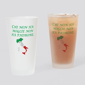 Italian Proverb Without A Wife Drinking Glass