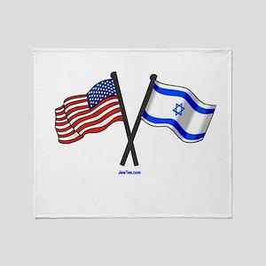 American Israel Friendship Throw Blanket