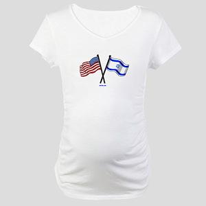 American Israel Friendship Maternity T-Shirt