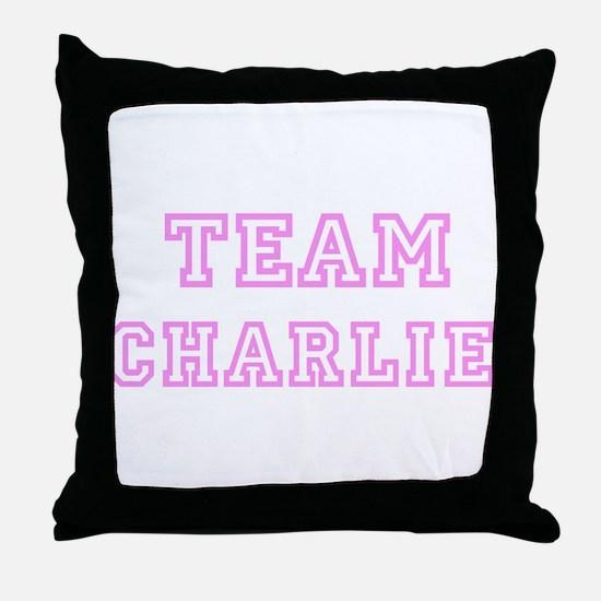 Pink team Charlie Throw Pillow
