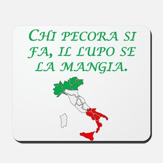 Italian Proverb Sheep Wolf Mousepad