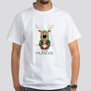 Prancer White T-Shirt