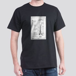 Statue of Liberty Structural Schematic T-Shirt