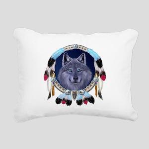 Dream Wolf Rectangular Canvas Pillow