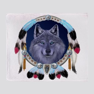 Dream Wolf Throw Blanket