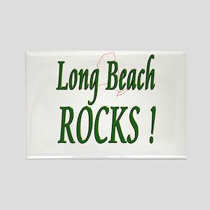 Long Beach Rocks ! Rectangle Magnet