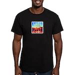 Grange Beach Men's Fitted T-Shirt (dark)