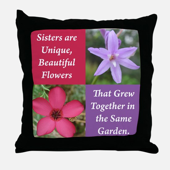 Flower_4Square_PinkPurple.png Throw Pillow