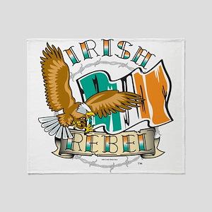 Irish Rebel Gear Ireland Throw Blanket