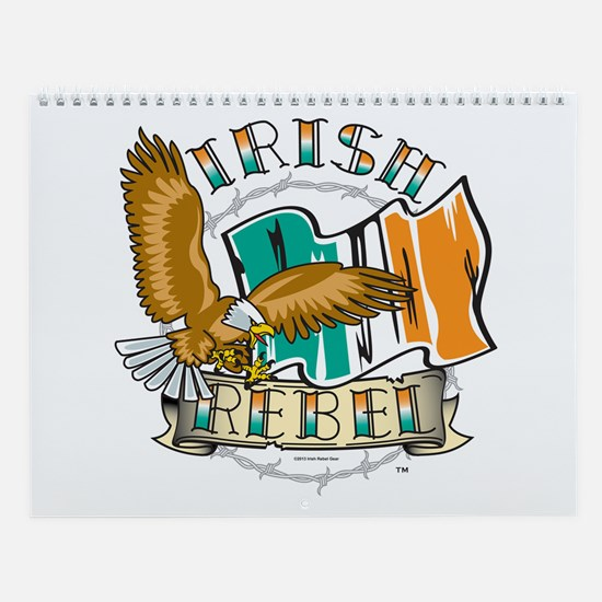 Irish Rebel Gear Ireland Wall Calendar