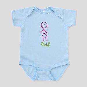 Enid-cute-stick-girl Infant Bodysuit