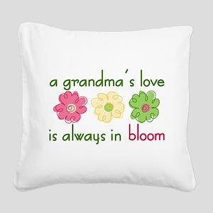 Grandma's Love Square Canvas Pillow