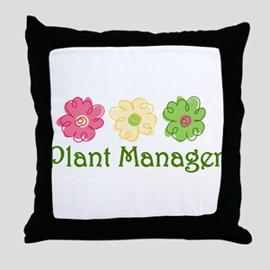 Plant Manager Throw Pillow
