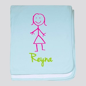 Reyna-cute-stick-girl baby blanket