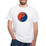 Orange and Blue White T-shirt