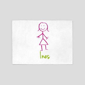 Ines-cute-stick-girl 5'x7'Area Rug
