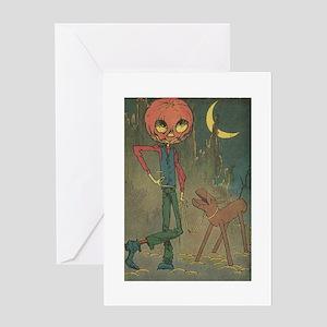 Oz Jack Pumpkinhead and Sawhorse Greeting Card