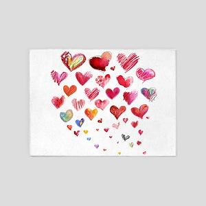 Hearts Aflight 5'x7'Area Rug