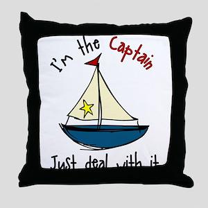 I'm The Captain Throw Pillow