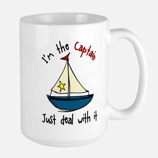 I'm The Captain Large Mug