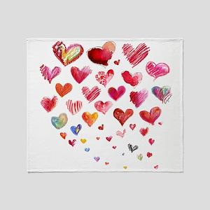 Hearts Aflight Throw Blanket