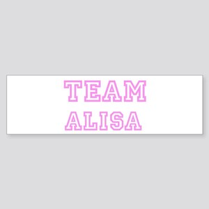Pink team Alisa Bumper Sticker