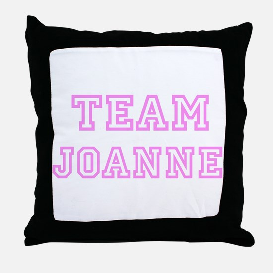 Pink team Joanne Throw Pillow