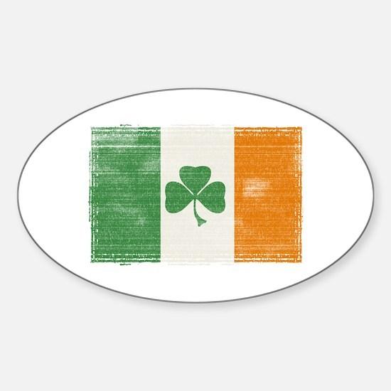 St Patrick's day flag Sticker (Oval)