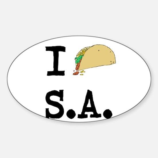 I TACO S.A. Sticker (Oval)