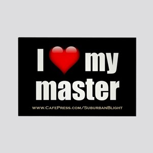 """Love My Master"" Rectangle Magnet"