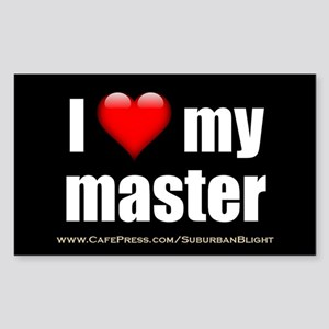 """Love My Master"" Sticker (Rectangle)"