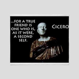 For A True Friend - Cicero Throw Blanket