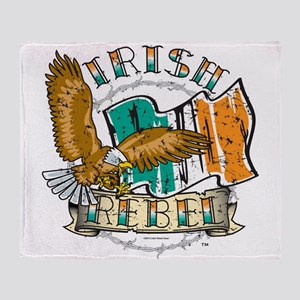 Irish Rebel Gear Ireland Throw Blanket