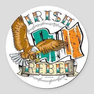 Irish Rebel Gear Ireland Round Car Magnet