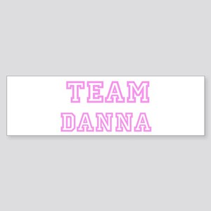Pink team Danna Bumper Sticker