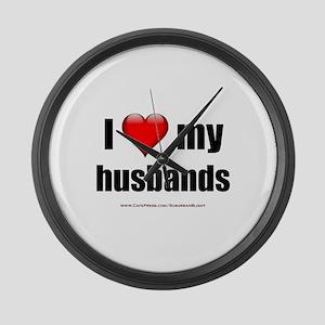 """Love My Husbands"" Large Wall Clock"