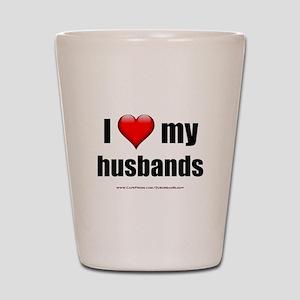 """""""Love My Husbands"""" Shot Glass"""