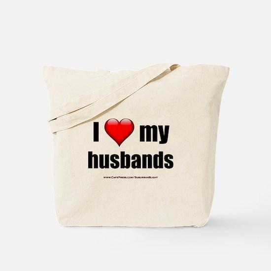 """Love My Husbands"" Tote Bag"