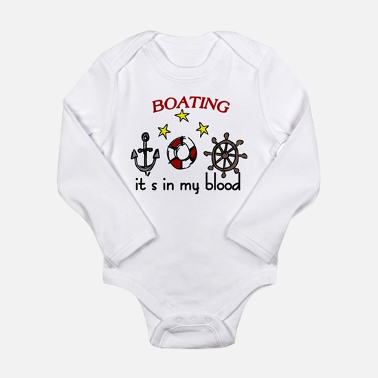 Boating Long Sleeve Infant Bodysuit