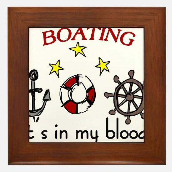 Boating Framed Tile