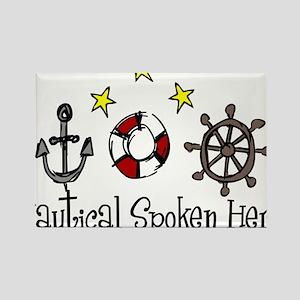 Nautical Spoken Here Rectangle Magnet
