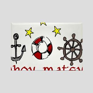 Ahoy Matey Rectangle Magnet