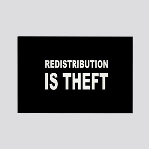 Redistribution is theft dark button Rectangle