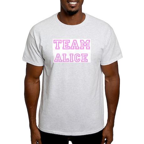 Pink team Alice Ash Grey T-Shirt
