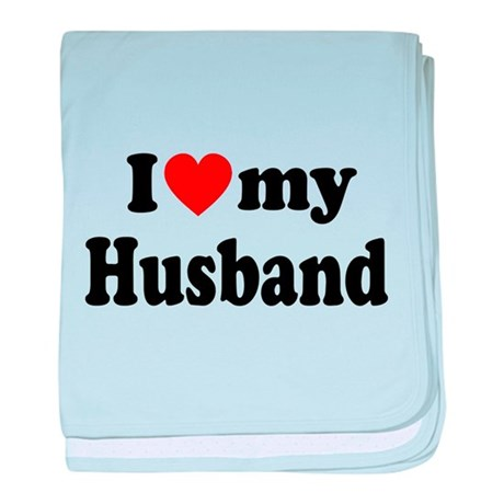 I Heart My Husband baby blanket