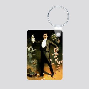 magician Aluminum Photo Keychain