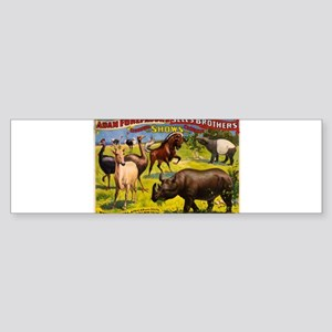 circus ad Sticker (Bumper)